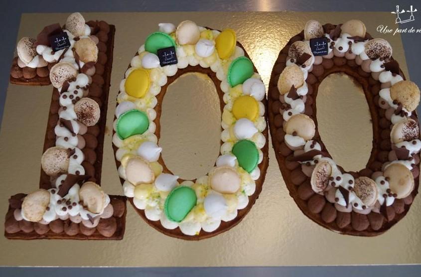 Number cake chocolats et citron